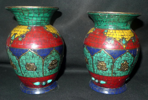 K4921-HW Pair of vases  Status : Inquire Click on picture for enlarge
