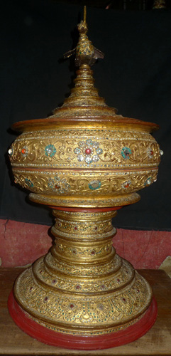 Hsun Hok - temple food vessel, big size, with top