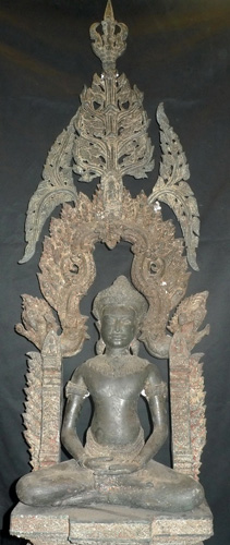 Lopburi Buddha with shrine