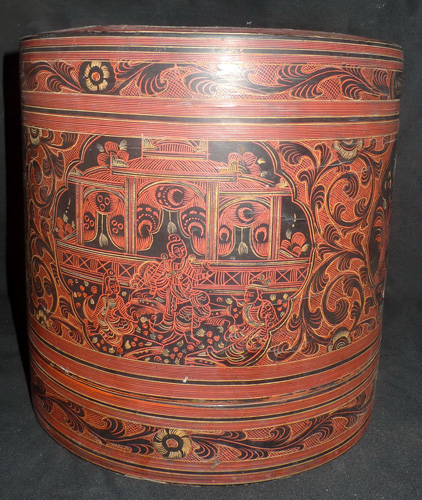 K6680-US Lacquerware, container, sold by one, have 2  Status : Inquire Click on picture for enlarge
