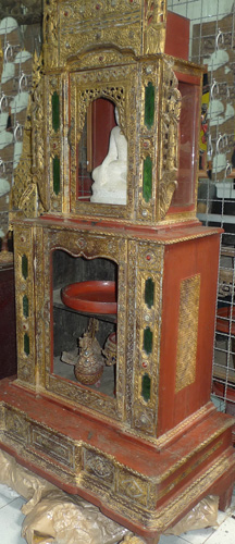 Temple shrine and cupboard, sold empty