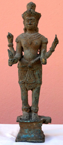 Four armed Khmer Vishnu