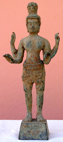 Four armed Khmer god