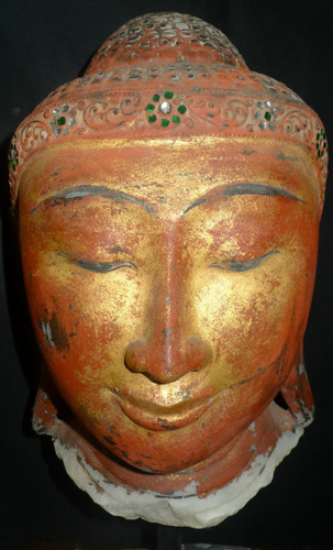 Mandalay Buddha's head