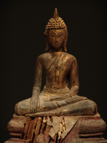 Thai Buddha on base, located in Europe
