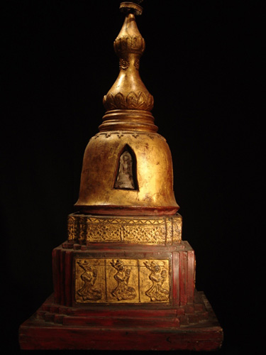 Stupa Chedi with relic insiade - located in Europe