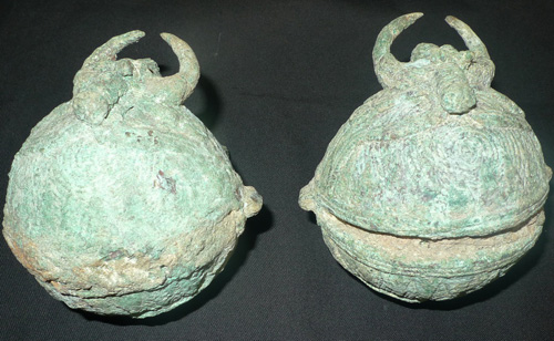 Pair of Khmer bells
