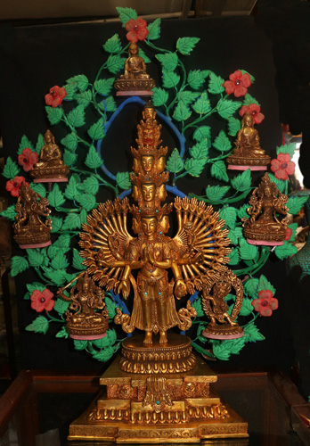 L6210-HA Avalokiteshvara, boddhi tree and deities  Status : Available Click on picture for enlarge
